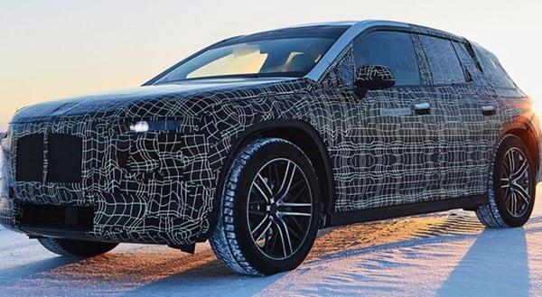 Ходовой макет BMW iNEXT замечен на испытаниях в Швеции