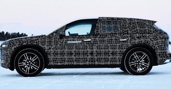 BMW iNext на испытаниях в Швеции на полигоне BMW