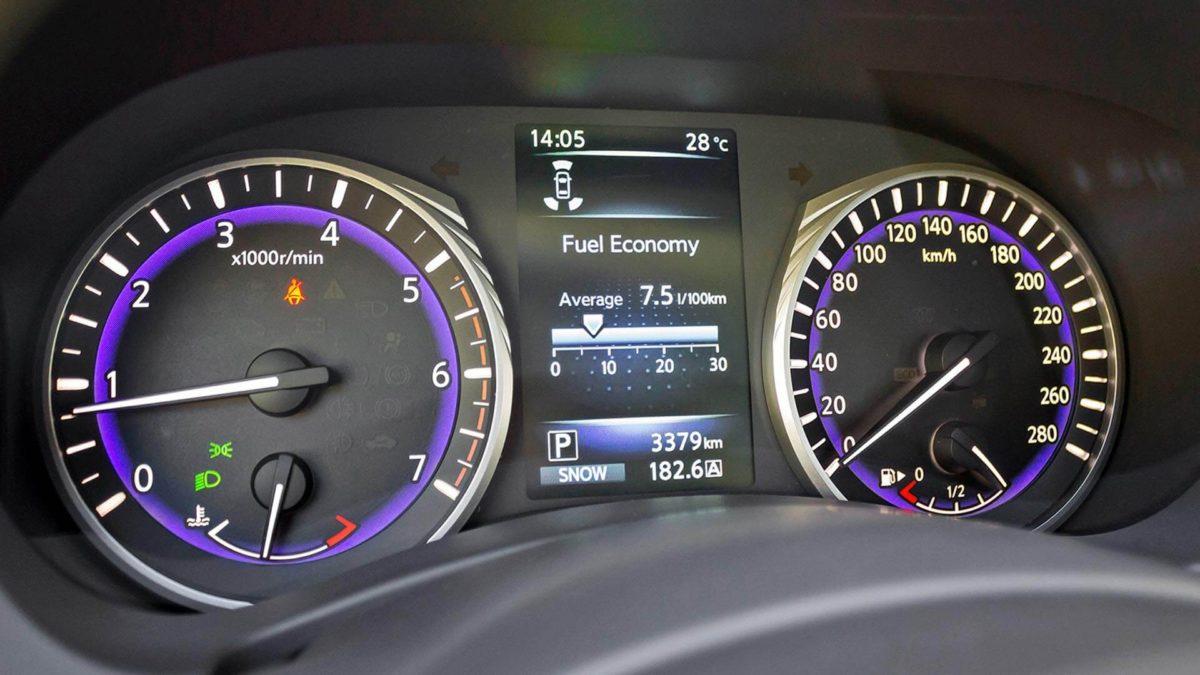 Приборная панель Infiniti Q50. Infiniti Q50 - панель приборов автомобиля