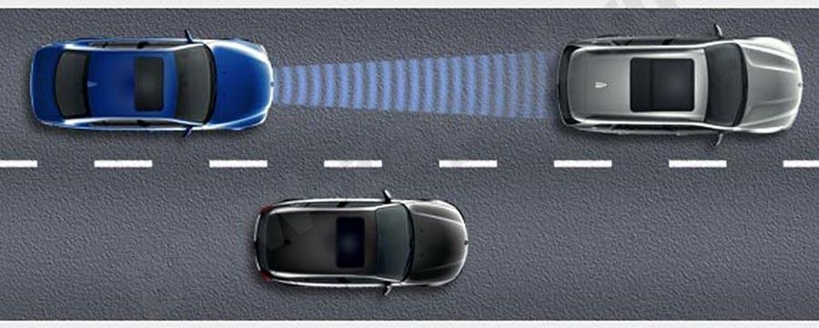 Поддержание расстояния и скорости до впереди идущего автомобиля