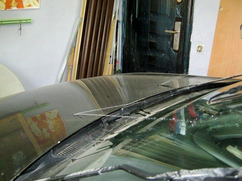Веерные форсунки для Nissan Almera - вид слева