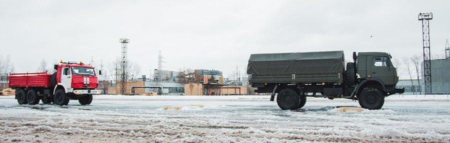Беспилотные автомобили КамАЗ в колонне с адаптивным круиз-контролем