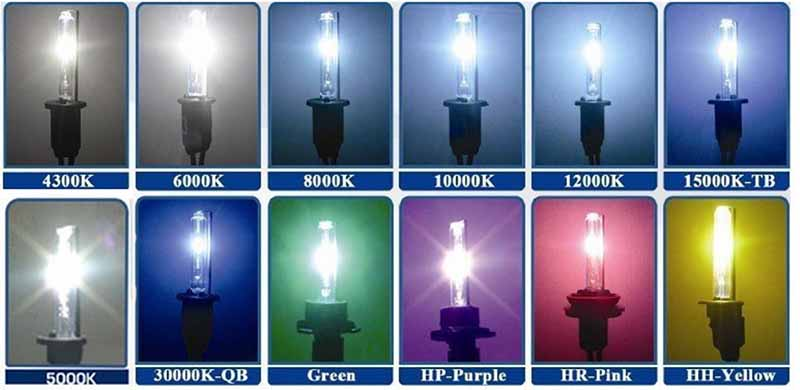 Типы ламп H7 - синие и белые лампы H7