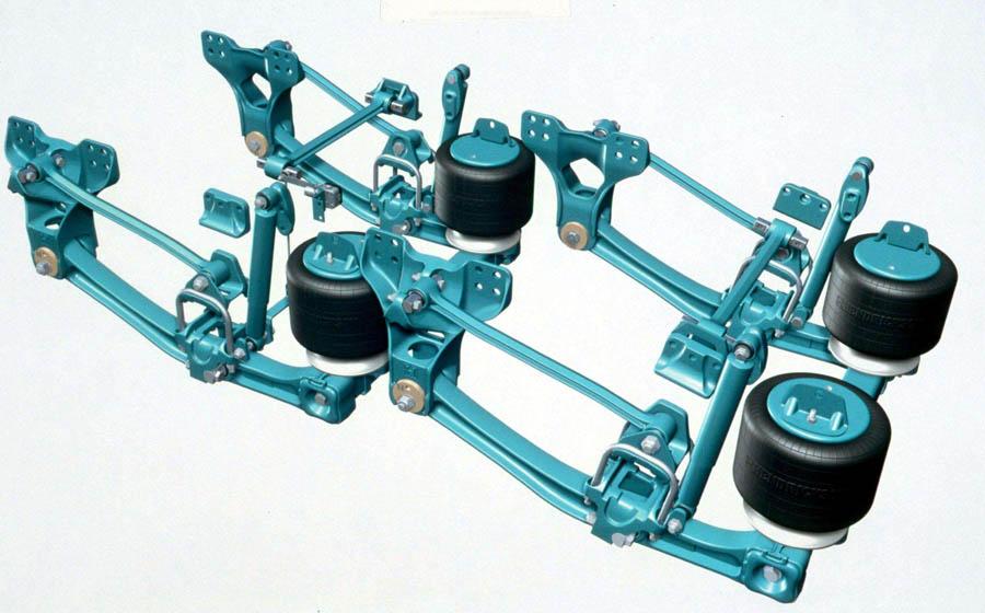 устройство пневматической подвески колес автомобиля