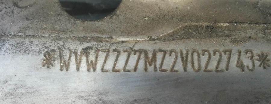 номер кузова VIN на пороге автомобиля