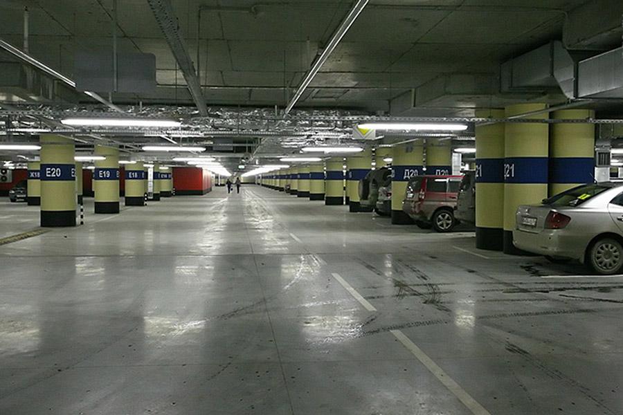 парковка в торговом центре