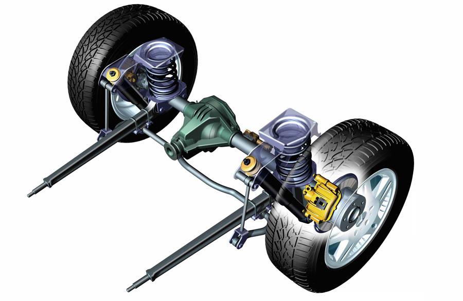 Внешний вид автомобильной подвески
