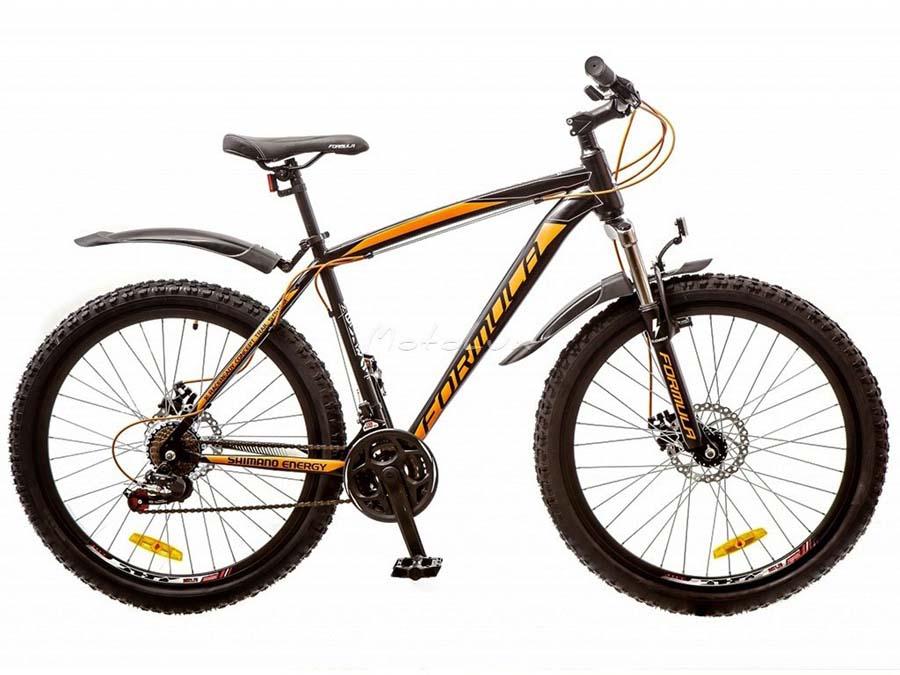велосипед с масляными амортизаторами и дисковыми тормозами