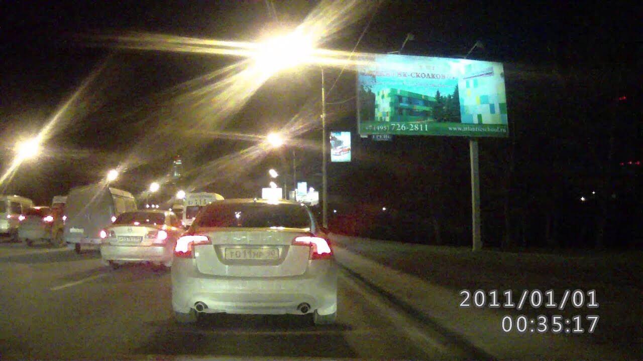 Съемка ночью на видеорегистратор ParkCity DVR HD 500 - ночная съемка