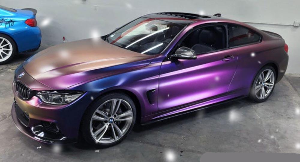 Очень красивая виниловая пленка на BMW - зрелище стоит денег!