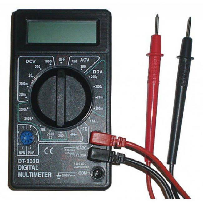 мультиметр для проверки напряжения и емкости аккумулятора