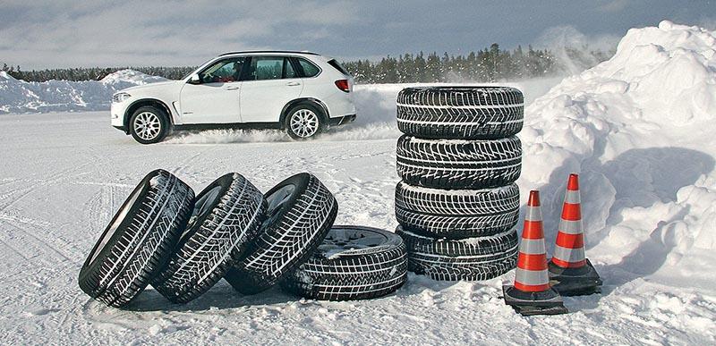 Правила использования зимних шин во Франции.