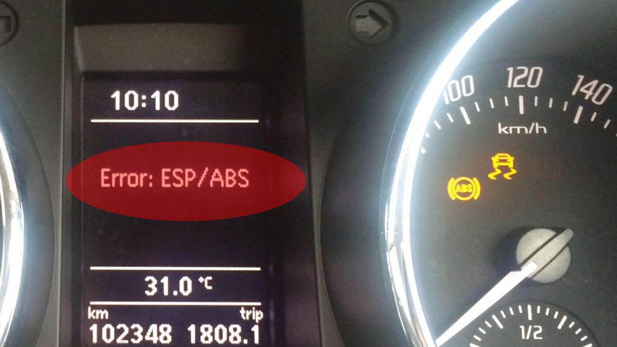 Значок АБС на панели приборов загорелся - ошибка системы АБС