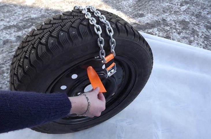 установка цепей на колеса автомобиля - инструкция