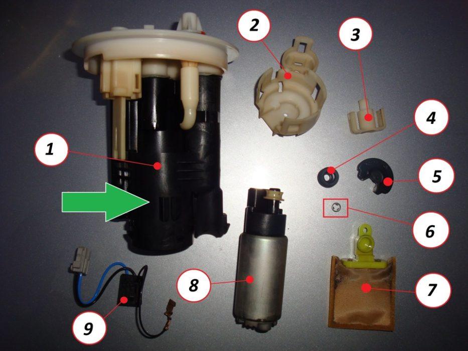 из чего состоит топливный фильтр на лансер 9