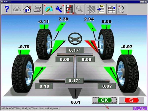 сход-развал колес автомобиля, развал-схождение колес авто